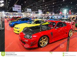 modified sports cars variety of modified sport cars on display editorial photo image