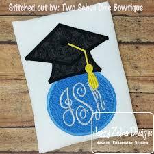 monogram graduation cap graduation cap monogram frame applique design jazzy zebra designs