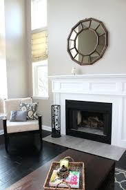 cover fireplace opening think tile reface brick with wood stone