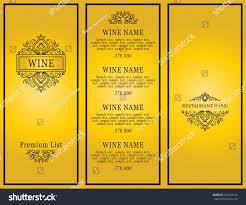 vintage design restaurant menu wine list stock vector 524507416
