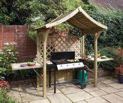 barbecue shelter with roof filter to let the smoke out garden