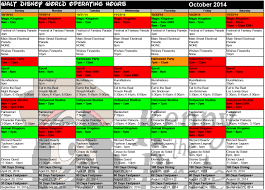 october disney world crowd calendar park hours kennythepirate 4