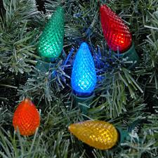 led multi color c9 replacement christmas lights 25 pack