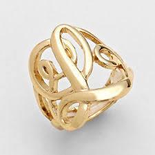 Monogram Initial Ring Monogram Ring Ebay