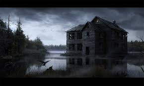 halloween dark background haunted house desktop wallpaper wallpapersafari