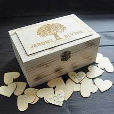Personalized Wooden Boxes Custom Wooden Guestbook Box U2013 Rdevine Fashion Wedding U0026 Bridal