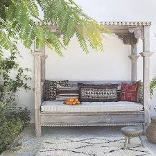 Outdoor Canopy Daybed Mediterranean Style Backyard With Outdoor Canopy Daybed Lovely