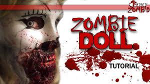 broken doll halloween makeup tutorial zombie doll youtube