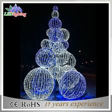 Outdoor Christmas Tree Made Of Lights by China New Large 3d Ball Outdoor Metal Lighted Christmas Trees