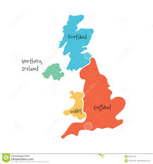 Map Of Scotland And England by United Kingdom Aka Uk Of Great Britain And Northern Ireland Hand