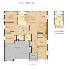 jefferson floor plan jefferson 2555 sqft garrette custom homes