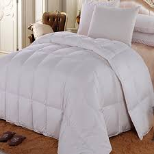 Queen Size Duvet Insert White Goose Down Medium Warm All Year Comforter 300 Thead Down