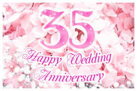 anniversary ecard sparkling 35th wedding anniversary ecard greetingshare