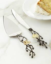wedding cake knife michael aram gold orchid wedding cake knife server neiman