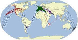 Lan Route Map by Airline Route Maps James U0027 Geo Blog