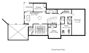 colonial house plan with 4 bedrooms and 4 5 baths plan 1836