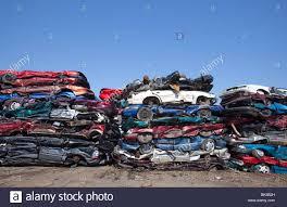 car junkyard michigan detroit michigan junk cars crushed and ready for recycling at a