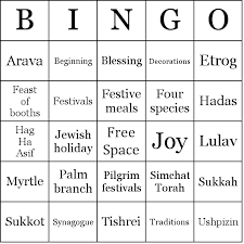 hanukkah bingo sukkot bingo cards