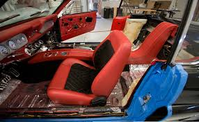 Custom Car Interior Design by 66 Mustang Interior Red Black Custom Console Auto Addiction