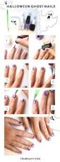 easy halloween nail tutorial the cutest little ghosts youbeauty