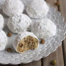 pistachio snowball cookies completely delicious