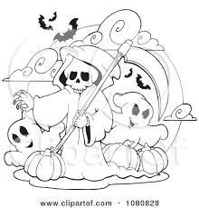 grim reaper grim reaper halloween printable coloring page cute