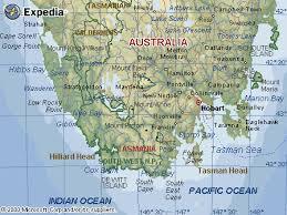 map of tasmania australia map of southern tasmania australia