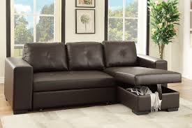 Sofa With A Pull Out Bed Poundex Associates Item F6930 Convertible Mini Sectional Sofa W