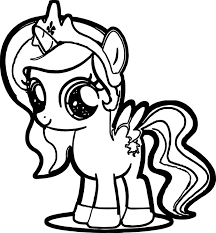 Cute Pony Coloring Page Wecoloringpage Pony Coloring Pages