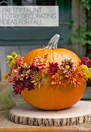 pretty front entry decorating ideas for fall front entry