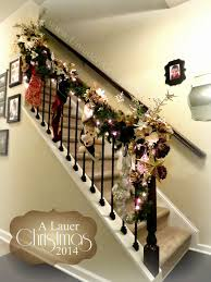 Christmas Lights For Stair Banisters Uniquely Grace A Lauer Christmas Home Tour Oh Holy Night