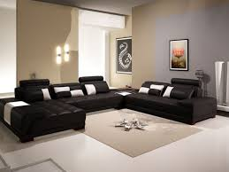 Pictures Of Living Rooms With Black Leather Furniture White Marble Floor White Ceiling Black White Pillow Carpet