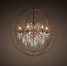 Crystal Sphere Chandelier Chandelier Inspiring Rustic Chandeliers With Crystals Ideas
