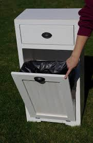 tips tilt out trash bin wooden trash can cabinet trash pull out