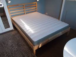 Small Double Bed Frames Ikea by Double Bed Frame Ikea Tarva And Mattress Solid Wood Pine Frame