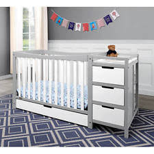 Convertible Crib And Changer Combo Sorelle Berkley Crib And Changer Gray Model 23905469 Ebay