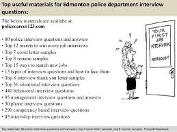 edmonton police department interview questions