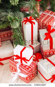 Beautifully Wrapped Gifts - diy hobby womans hands give wrapped stock photo 490747294