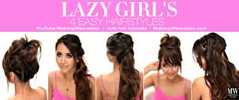 hairstyles for back to school for long hair 4 lazy girl s easy hairstyles how to cute braids messy buns