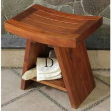 classic asia teak serenity shower stool teak patio furniture world