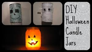 Halloween Jars Crafts by Diy Halloween Candle Holders Youtube