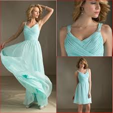 looking chic and stylish with light aqua blue bridesmaid dresses