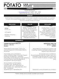 Sample Resume Pdf by Potato Sample Resume Pdf Pdf Archive