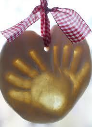 make salt dough handprint ornaments to document those