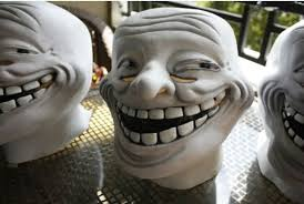 Troll Meme Mask - new year surprise latex troll face mask for fancy dress halloween