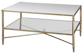 glass coffee table with glass shelf henzler mirrored glass coffee table ls boutique