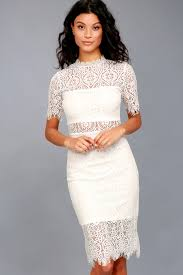 white lace chic white dress lace dress lwd sheath dress