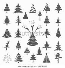 set trees stock vector 224445472