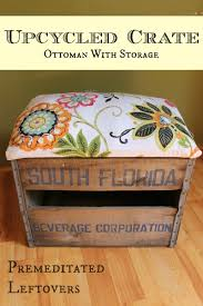 Upcycle Ottoman How To Make An Ottoman From A Crate Hometalk