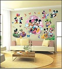 chambre enfant mickey enfants stickers muraux grand disney mickey mouse minnie